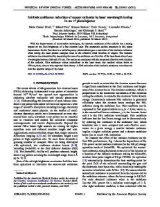 Intrinsic emittance reduction of copper cathodes ... - APS Link Manager