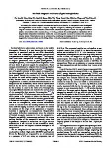 Intrinsic magnetic moments of gold nanoparticles - Physical Review ...