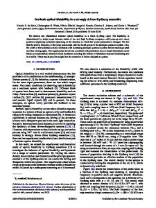 Intrinsic optical bistability in a strongly driven ... - APS Link Manager