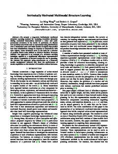 Intrinsically Motivated Multimodal Structure Learning