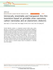 Intrinsically stretchable and transparent thin-film ... - CiteSeerX