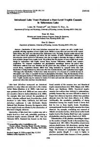 Introduced Lake Trout Produced a Four-Level Trophic Cascade in ...