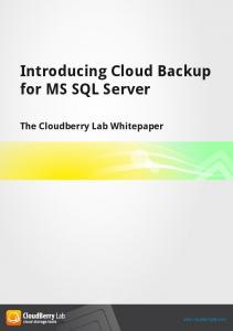 Introducing Cloud Backup for MS SQL Server - CloudBerry Lab