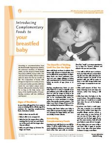 Introducing Complementary Foods to Your Breastfed Baby