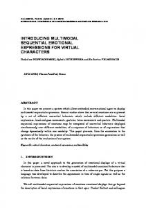 introducing multimodal sequential emotional expressions for virtual
