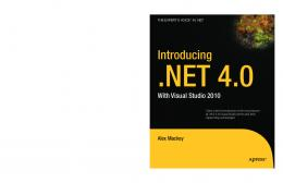 Introducing .NET 4.0 With Visual Studio 2010