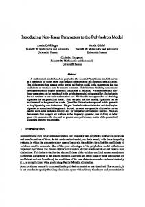 Introducing Non-linear Parameters to the Polyhedron Model - Infosun
