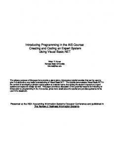 Introducing Programming in the AIS Course: Creating and Coding an ...