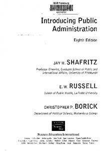 Introducing Public Administration - GBV