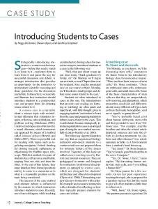 Introducing Students to Cases - Peggy Brickman - University of Georgia