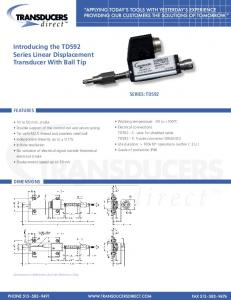 Introducing the TD592 Series Linear Displacement Transducer With ...