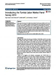 Introducing the Tunisia Labor Market Panel Survey 2014