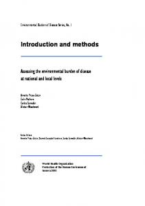 Introduction and methods - World Health Organization