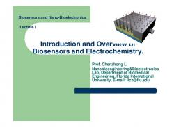Introduction and Overview of Biosensors and ... - nanoHUB