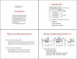 Introduction Chapter 1 Introduction What is an Operating System ...