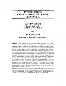 INTRODUCTION: CRIME MAPPING AND CRIME PREVENTION ...