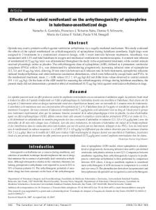 Introduction Effects of the opioid remifentanil on the ... - CORE
