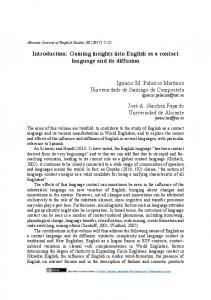 Introduction: Gaining insights into English as a contact language and
