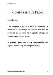 Introduction of compressible flow - FKM