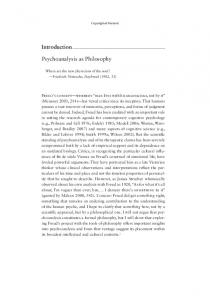 Introduction Psychoanalysis as Philosophy - Princeton University ...