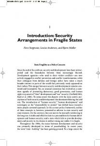 Introduction: Security Arrangements in Fragile States