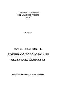 introduction to algebraic topology and algebraic geometry