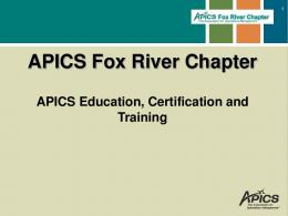 Introduction to APICS - APICS Fox River Chapter