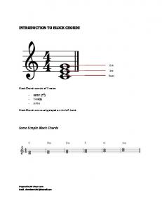 INTRODUCTION TO BLOCK CHORDS
