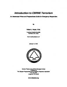 Introduction to CBRNE Terrorism - Disaster Preparedness and ...