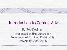 Introduction to Central Asia - SSRN papers