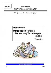 Introduction to Cisco Networking Technologies