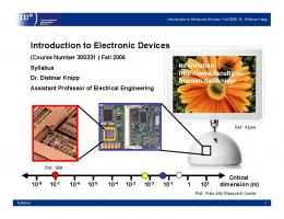 Introduction to Electronic Devices