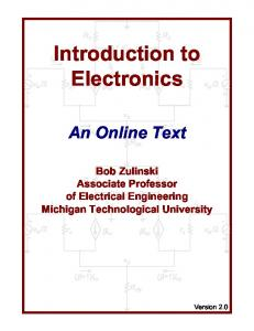 Introduction to Electronics - An Online Text - Electrical and Computer ...