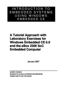INTRODUCTION TO EMBEDDED SYSTEMS A Tutorial Approach ...