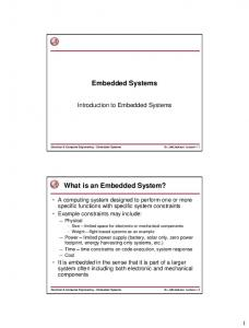 Introduction to Embedded Systems - Dr. Jeff Jackson