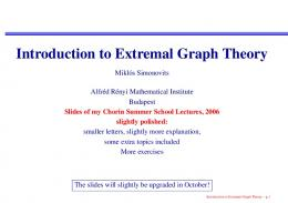 Introduction to Extremal Graph Theory