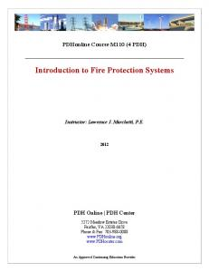 Introduction to Fire Protection Systems