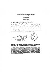 Introduction to Graph Theory - Department of Mathematics ...