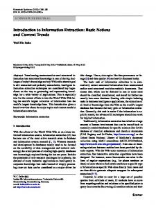 Introduction to Information Extraction: Basic ... - Semantic Scholar