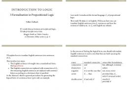INTRODUCTION TO LOGIC Formalisation in ... - The Logic Manual
