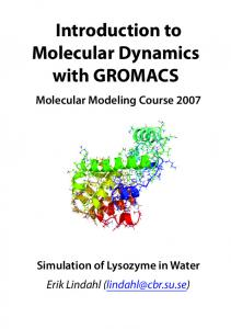 Introduction to Molecular Dynamics with GROMACS - KTH
