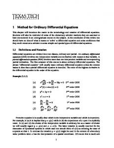Introduction to Ordinary Differential Equations