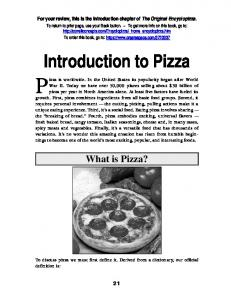 Introduction to Pizza