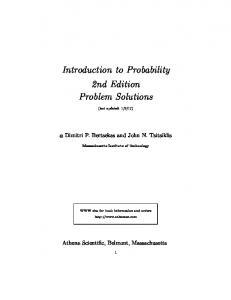 Introduction to Probability 2nd Edition Problem Solutions