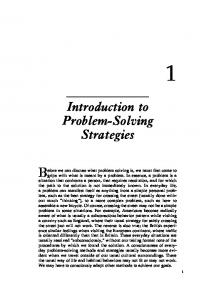 Introduction to Problem-Solving Strategies