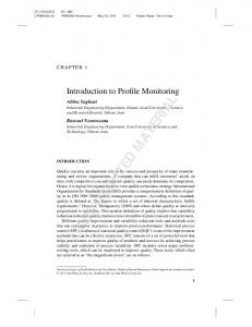 Introduction to Profile Monitoring (PDF Download Available)