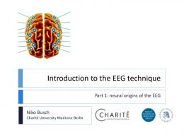 Introduction to the EEG methodology - Timely COST