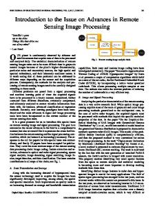 Introduction to the Issue on Advances in Remote ... - IEEE Xplore