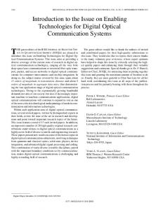 Introduction to the Issue on Enabling Technologies for ... - IEEE Xplore