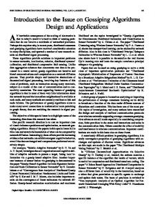 Introduction to the Issue on Gossiping Algorithms ... - IEEE Xplore